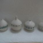 Embossed vases Mount Brandon Pottery
