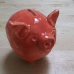 Glazed piggy bank Mount Brandon Pottery