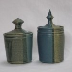 Lidded boxes Mount Brandon Pottery